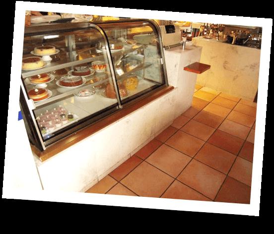 大理石を使って店舗の床