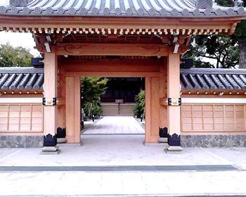 神社の門の土台
