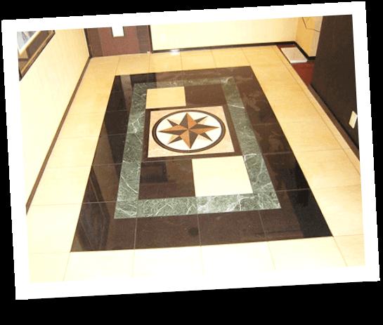 大理石のデザインフロア